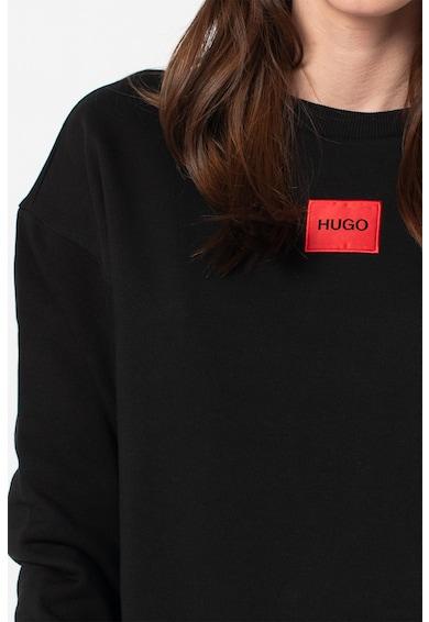 HUGO Bluza sport cu decolteu la baza gatului si aplicatie logo Nakira Femei