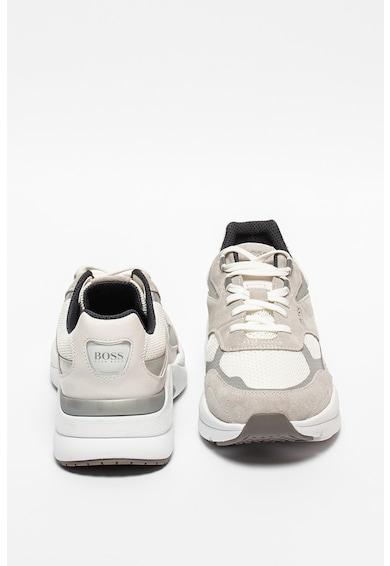 BOSS Pantofi sport de plasa cu garnituri de piele si piele intoarsa Barbati