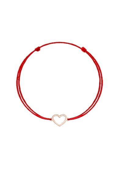 Zea et Sia Bratara tip snur cu talisman in forma de inima din aur rose de 14K Femei