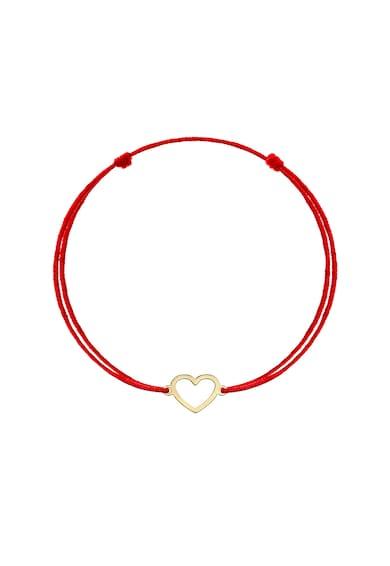 Zea et Sia Bratara tip snur cu talisman in forma de inima din aur galben de 14K Femei