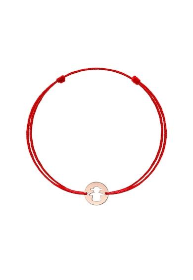 Zea et Sia Bratara cu snur de ajustare si talisman din aur de 14K Auriu rose Fete