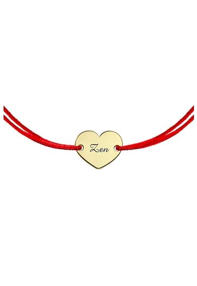 Zea et Sia Bratara din lant cu talisman din aur de 14K in forma de inima Femei
