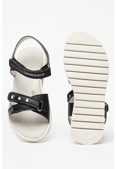 Lumberjack sandale de piele ecologica cu imprimeu logo Lara Fete