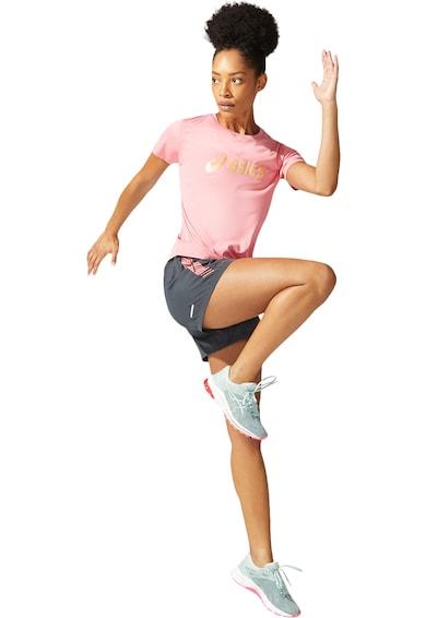 Asics Tricou cu imprimeu logo pentru alergare Sakura Femei