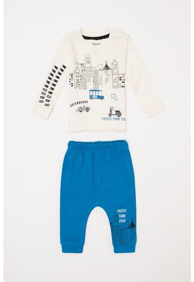 DeFacto Pijama cu maneci lungi si imprimeu grafic Baieti