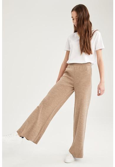 DeFacto Pantaloni de jerseu cu croiala ampla si talie inalta Femei