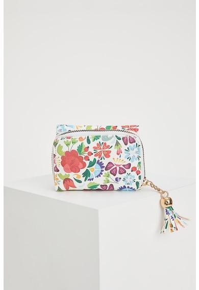 DeFacto Portofel pliabil de piele ecologica cu imprimeu floral Femei