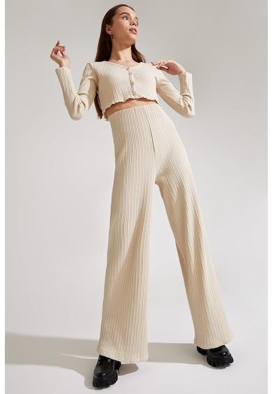DeFacto Pantaloni palazzo cu aspect striat Femei
