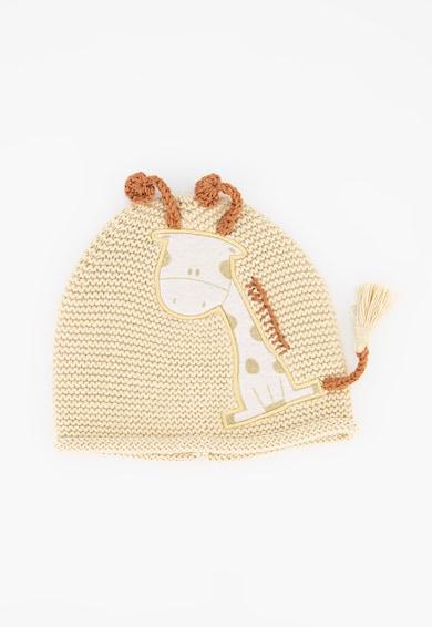 United Colors of Benetton Caciula tricotata cu aplicatie girafa Fete