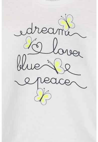 United Colors of Benetton Bluza cu imprimeu text Fete