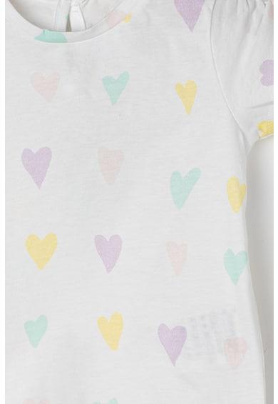 United Colors of Benetton Tricou cu decolteu la baza gatului si imprimeu Fete