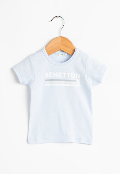 United Colors of Benetton Tricou din bumbac cu imprimeu logo Baieti