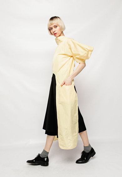 Bianca Popp Bluza cu croiala asimetrica si maneci bufante Femei
