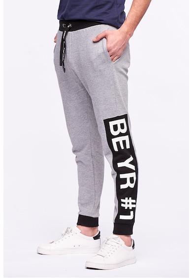 Kenvelo Pantaloni sport conici cu imprimeu text Barbati