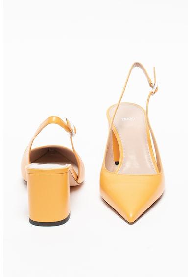 HUGO Pantofi sport slingback de piele cu toc masiv Ines Femei