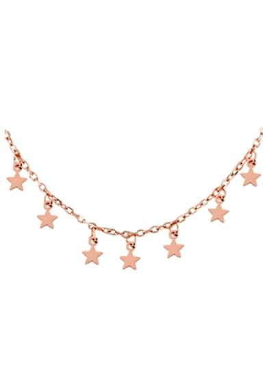 Loisir by Oxette Colier cu placaj de aur rose de 18K si pandantive in forma de stea Femei