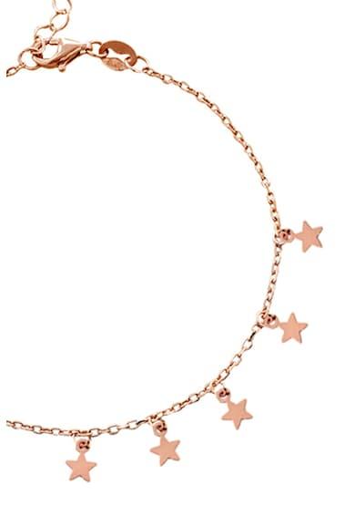 Loisir by Oxette Bratara cu placaj de aur rose de 18K si talismane in forma de stea Femei