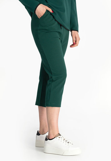 Antonia M Pantaloni capri cu snururi de ajustare in talie Femei