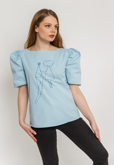 Atelier Merci Bluza cu maneci bufante Femei