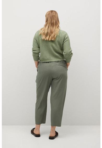VIOLETA BY MANGO Pantaloni conici din amestec de lyocell Fluido Femei