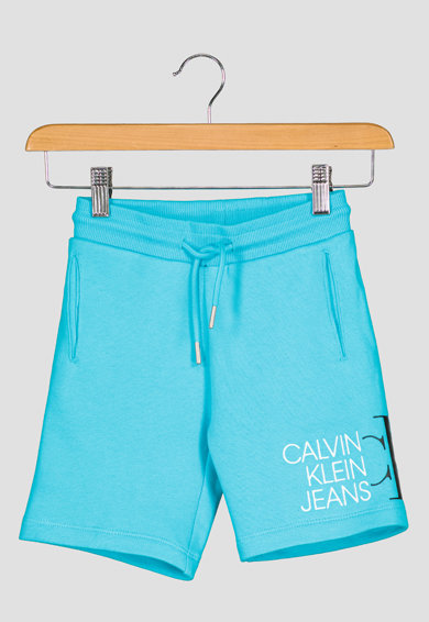 CALVIN KLEIN Pantaloni scurti de bumbac organic cu logo Baieti