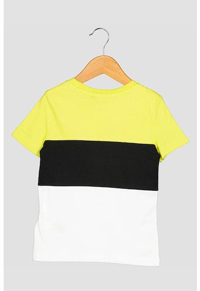CALVIN KLEIN Tricou cu model colorblock si logo supradimensionat Baieti