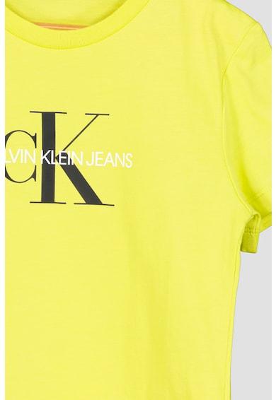 CALVIN KLEIN JEANS Tricou de bumbac organic cu logo Fete