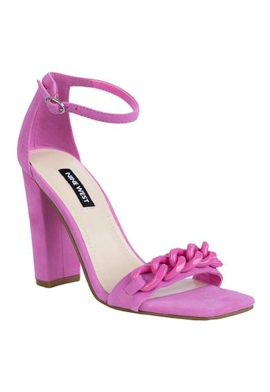 NINE WEST Sandale din piele intoarsa cu toc inalt Mindful Femei