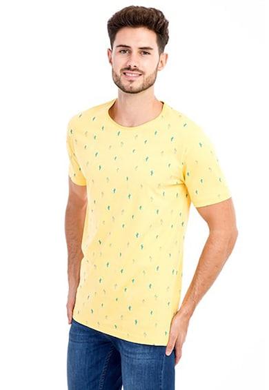KIGILI Tricou slim fit cu imprimeu grafic Barbati