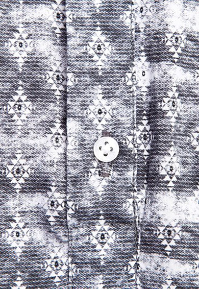 KIGILI Camasa de bumbac cu imprimeu Barbati