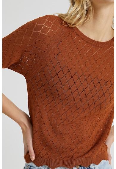 KOTON Pulover tricotat fin cu model pointelle Femei