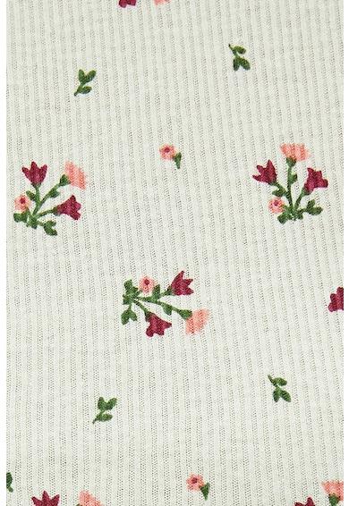 KOTON Tricou crop cu imprimeu floral Femei