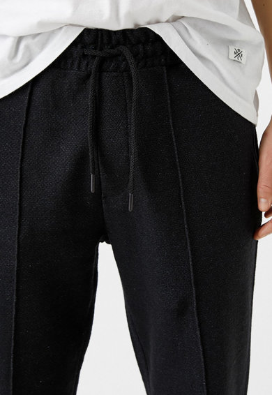 KOTON Pantaloni jogger texturati cu snur de ajustare Barbati