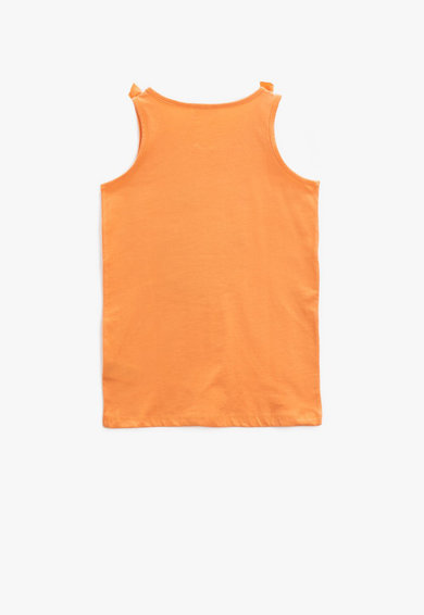 KOTON Top cu paiete,  Oranj Fete