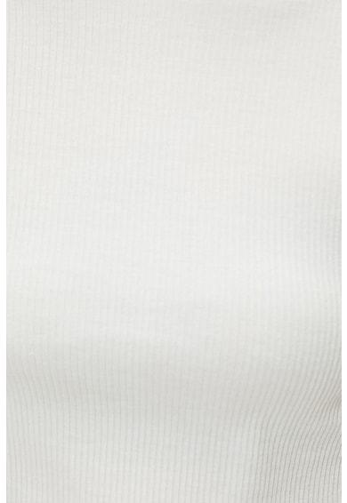 KOTON Tricou crop cu decolteu la baza gatului si striatii Femei