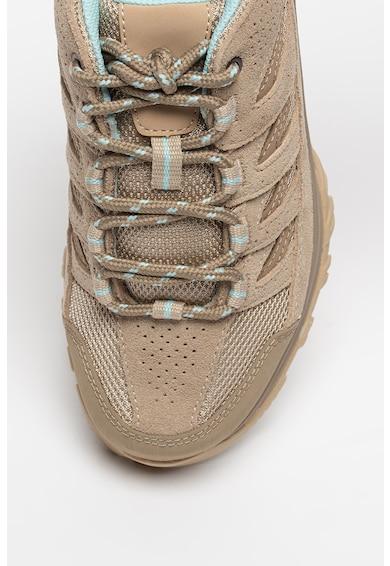 Columbia Pantofi din piele intoarsa cu insertii din plasa pentru drumetii Crestwood Femei