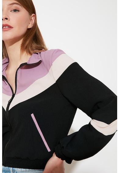Trendyol Bluza sport colorblock cu fermoar Femei