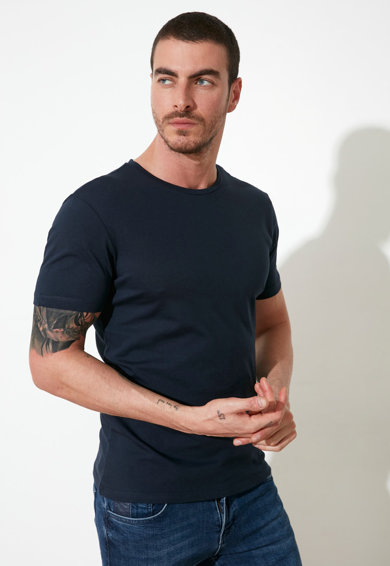 Trendyol Set de tricouri slim fit - 3 piese Barbati