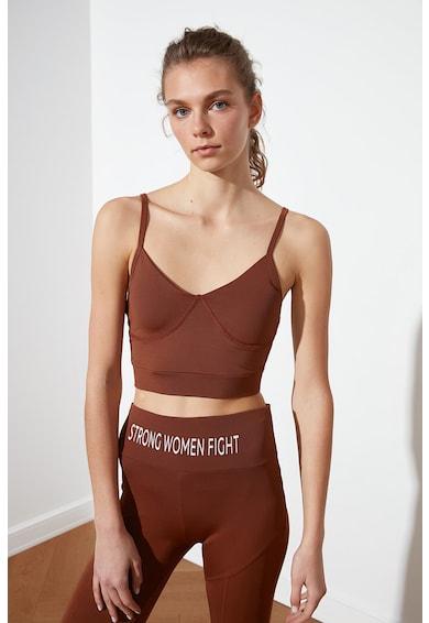 Trendyol Bustiera sport cu imprimeu text pe partea din spate Femei