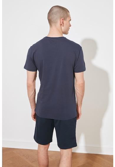 Trendyol Tricou slim fit cu imprimeu pe piept Barbati