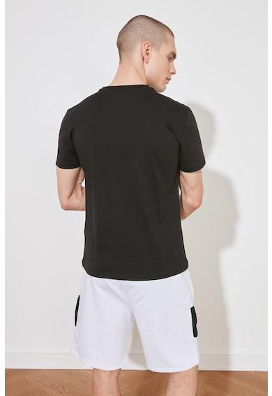 Trendyol Tricou regular fit cu imprimeu text Barbati
