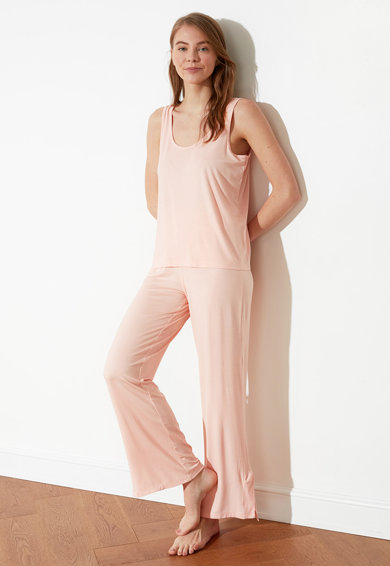 Trendyol Pijama din amestec de viscoza Femei