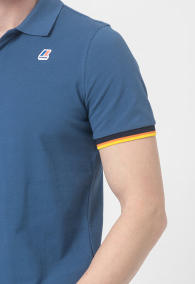 K-Way Tricou polo slim fit cu margini contrastante Vincent Barbati