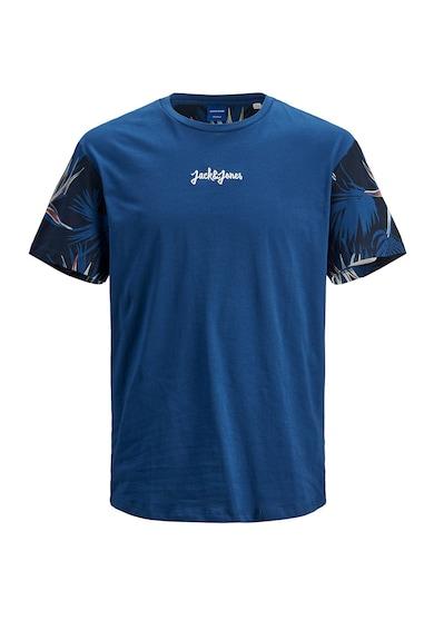 Jack&Jones Tricou cu logo si maneci cu imprimeu Baieti