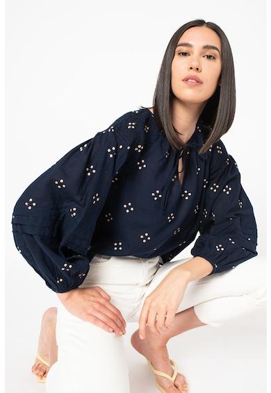 Vero Moda Bluza din amestec de in cu broderii Femei