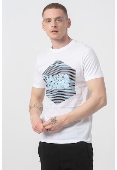 Jack&Jones Tricou cu decolteu la baza gatului si imprimeu logo Barbati