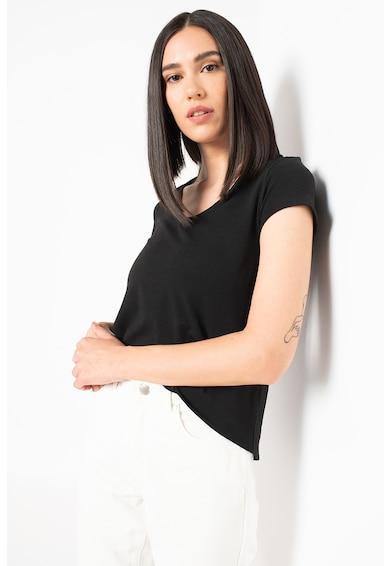 Only Tricou din jerseu cu decolteu in V Moster Femei