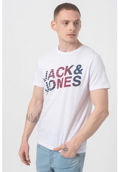 Jack&Jones Tricou regular fit cu decolteu la baza gatului si logo York Barbati