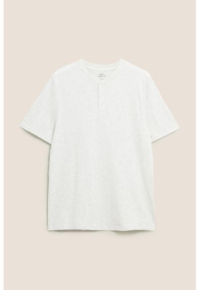 Marks & Spencer Tricou din bumbac cu decolteu henley Barbati
