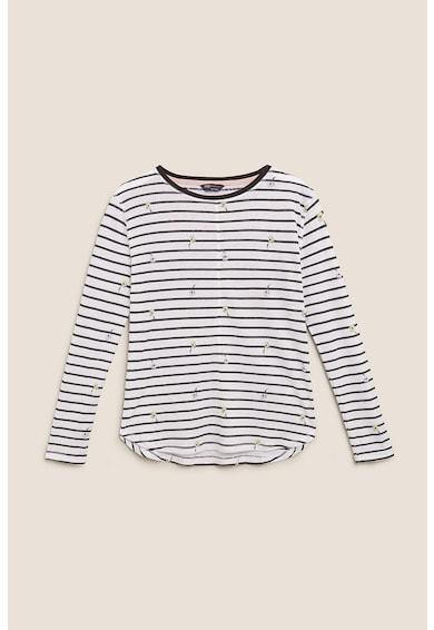 Marks & Spencer Bluza cu model in dungi si imprimeu floral Femei